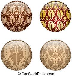texturen, glas, cirkel, knoop, baskisch
