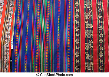 texturen, indiër, dekens