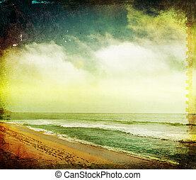 texturen, stijl, strand