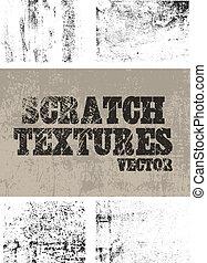 textures, égratignure