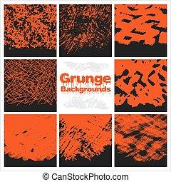 textures, arrière-plan., set., grunge