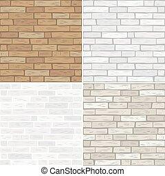 textures, brique, ensemble