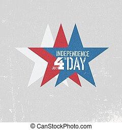 textures, couches, coloré, grunge, card., blue., indépendance, salutation, trois, conception, boîte, étoiles, blanc, patriotique, être, edited., template., jour, rouges