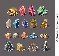 textures, cristal, magie, rocher