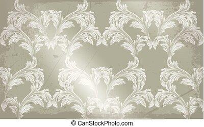 textures, décor, vieux, schéma structure, ornement, fond, vendange, baroque, vector.