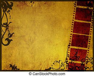 textures, grand, arrière-plans, bande film