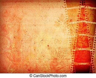 textures, grand, espace, texte, cadre, arrière-plans, ton, -with, bande, image, pellicule