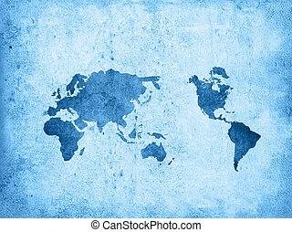 textures, mondiale, arrière-plans, carte