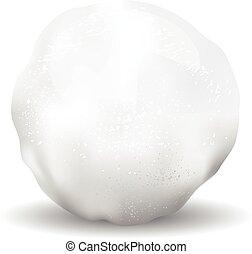 textures, objet, isolé, illustration, boule de neige, icône