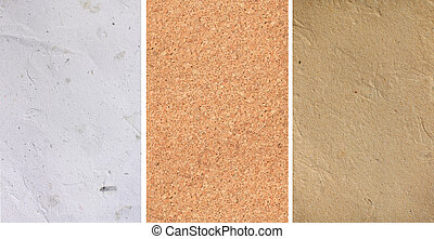 textures, papier brun, corkboard, blanc, artpaper