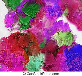 textures, peinture, toile, huile