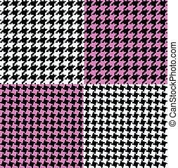 Ilustracao de variedades de texturas coloridas no estilo pied-de-poule