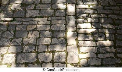 textures, pierre, naturel, texture, wall., brique