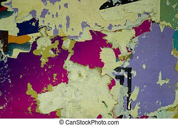 textures, sur, a, paris, métro, wall.