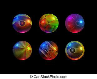 texturized, esferas, 3 d