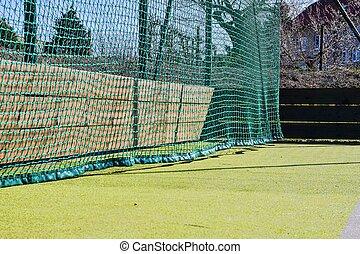 textuur, field., achtergrond, net, sportende, spelend