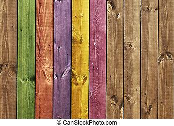 textuur, -, gekleurde, houten raad