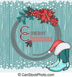 textuur, hout, achtergrond, amerikaan, kerstmis, cowboy