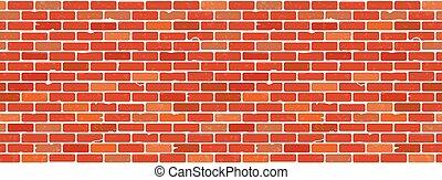 textuur, muur, baksteen, seamless