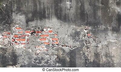 textuur, oud, concrete baksteen, muur