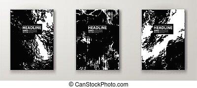 textuur, stedelijke , collection., set., spandoek, grunge, abstract, informatieboekje , vector