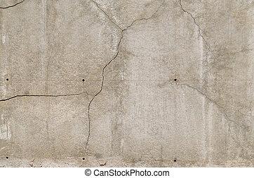textuur, van, de, grijs, opgepoetste, concrete muur, met, krassen, voor, achtergrond