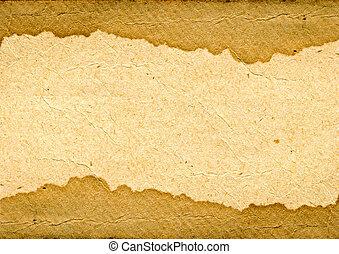 textuur, van, de, oud, papier, met, bruine stip