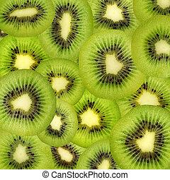 textuur, van, kiwi