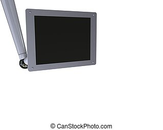 tft display - 3d rendered illustration of a tft monitor