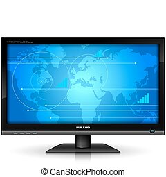 tft, widescreen, textanzeige