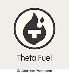 TFUEL - Theta Fuel. The Icon of Money or Market Emblem. -...