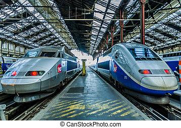 tgv, grande vitesse, francais, train