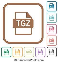 tgz, eenvoudig, formaat, bestand, iconen