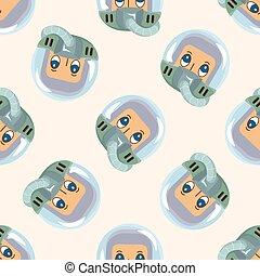 thème, éléments, astronaute