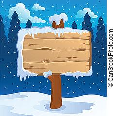 thème, étiquettes, 5, hiver, image