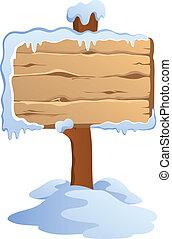 thème, étiquettes, hiver, image, 4