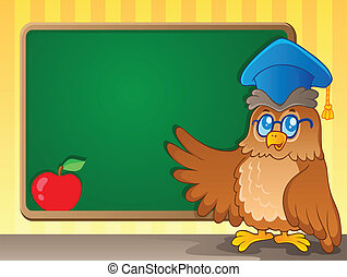 thème, 2, image, schoolboard