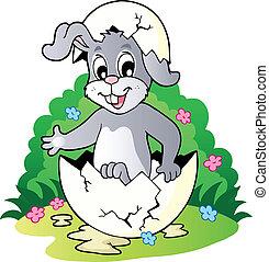 thème, 2, lapin pâques, image