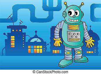 thème, 2, robot, image