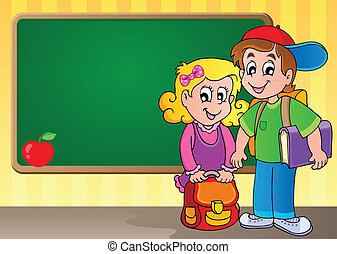 thème, 3, image, schoolboard