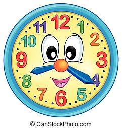 thème, 5, image, horloge