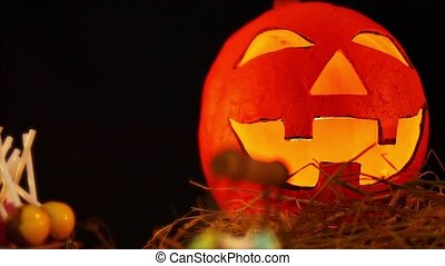 thème, animé, halloween, étai