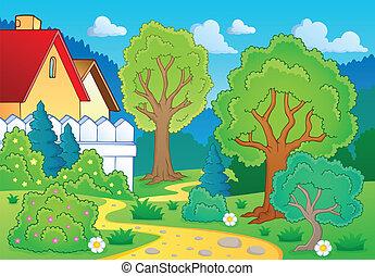 thème, arbre 3, paysage