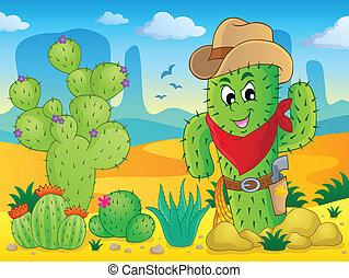 thème, cactus, image, 4