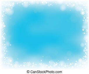 thème, flocon de neige, fond, 4
