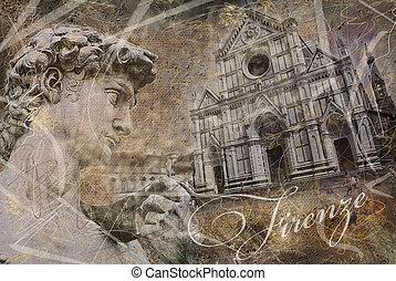 thème,  Florence, fond