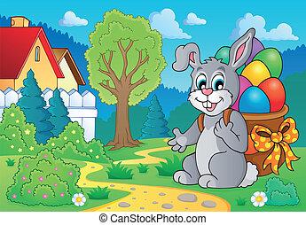 thème, lapin pâques, image, 7