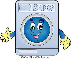 thème, machine, lavage, image