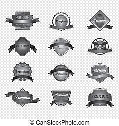thème, motocyclette, couperet, étiquette