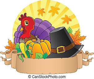 thème, parchemin, 3, thanksgiving
